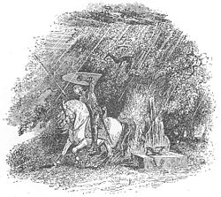 Mabinogion - Owain or Cynon shelter from a hailstorm.jpg