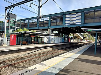 Macarthur railway station - Southbound view in April 2018