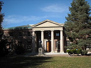 Mackay School of Earth Sciences and Engineering - Front of the Mackay Mines building