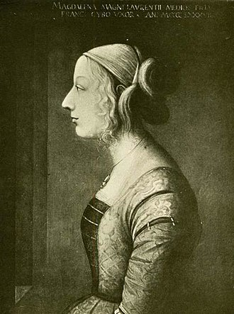 """Maddalena de' Medici (1473–1528) - the favourite daughter of Clarice Orsini, she was """"the eye of her heart"""""""