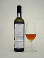 Madeira Barbeito Medium Dry Colheita-1999 Canteiro - Bottle back + Glass.jpg
