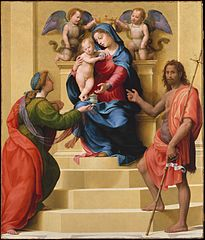 Madonna and Child Enthroned with Saints Mary Magdalen and John the Baptist