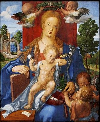 Pacifier - Albrecht Dürer – Madonna with the Siskin, 1506