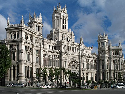 Palacio de Cibeles, Madrid's city hall, Cibeles Square