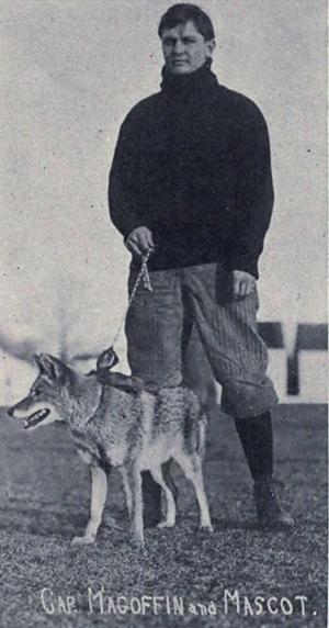 1907 Michigan Wolverines football team - Paul Magoffin and the Michigan football team mascot