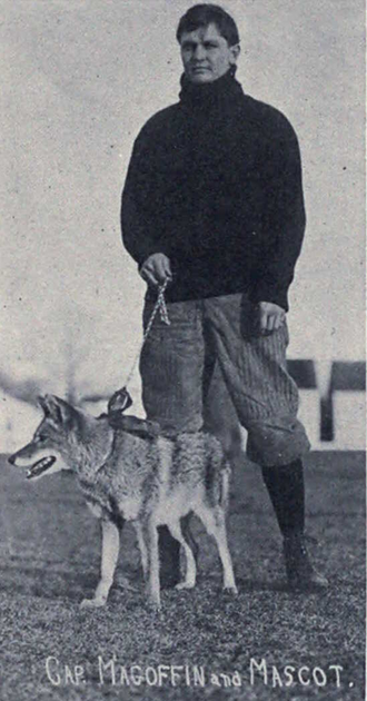 1907 Michigan Wolverines football team - Paul Magoffin and the Michigan football team mascot