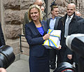 "Magdalena Andersson during the ""budget walk"" to Parliament, Oct 23, 2014 07.jpg"