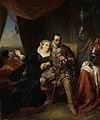 Magdalena Moons smeekt haar verloofde Francisco Valdez de bestorming van Leiden nog een nacht uit te stellen, 1574; scène uit de Tachtigjarige Oorlog Rijksmuseum SK-C-294.jpeg