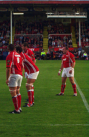 Scarlets - Scarlets players during a league match against Glasgow Warriors in 2006