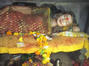 Chandrapur - Sleeping goddess at Mahakali temple in Chandrapur