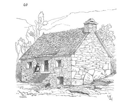 Dictionnaire raisonn de l architecture fran aise du xie au xvie si cle maiso - Dessin maison de campagne ...