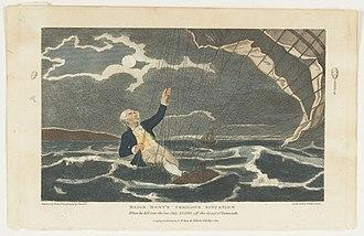 John Money (aeronaut) - Major Mony's Perilous Situation When he fell into the Sea July, 23, 1785, off the Coast of Yarmouth