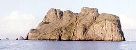 L'île de Malpelo dans l'océan Pacifique