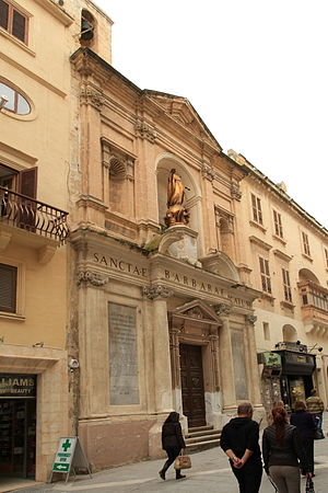 Giuseppe Bonici - Church of St. Barbara in Valletta