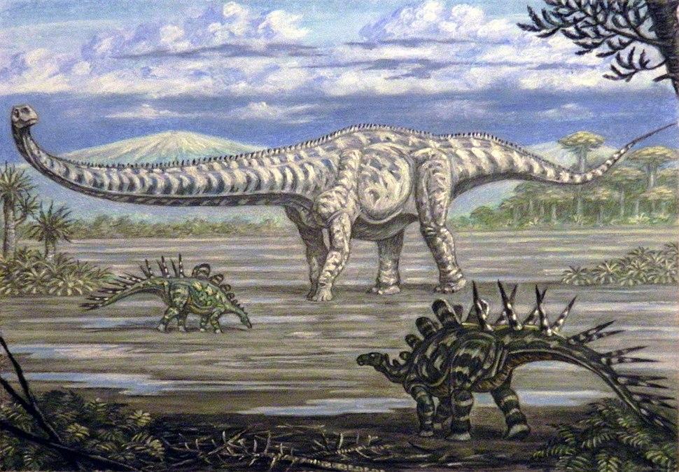 Mamenchisaurus and Chialingosaurus