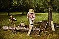 Man chopping wood at Booker T. Washington National Monument. Image Number 74-1689-25. (bf925ef42a6040bab0b11ecb7a49098c).jpg