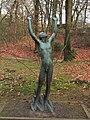 Man met ten hemel opgeheven hoofd en armen, O Wenckebach, 1950 bons.JPG