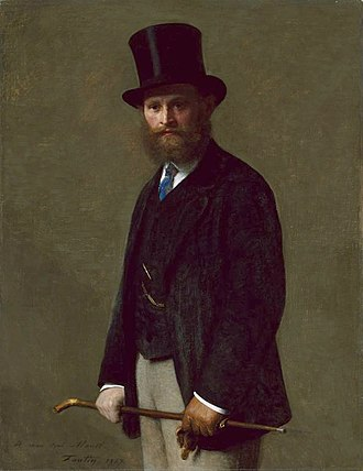 Édouard Manet - Manet's portrait painted by Fantin-Latour