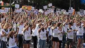 protesto, organizita de PACMA, kontraŭ la Bovo de la Vega