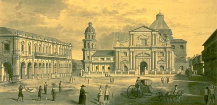 Manila Cathedral (1792) by Brambila