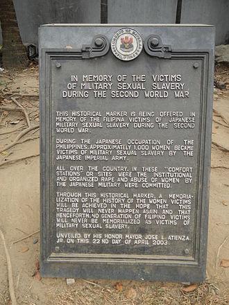 Comfort women - Historical Marker, Plaza Lawton, Liwasang Bonifacio, Manila