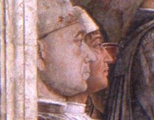 Portrait of a Man (Mantegna) - Portrait in the Camera degli Sposi.