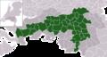 Map - NL - Brabantse Stedenrij Municipalities (2009).png