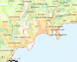 Nizza – Mappa
