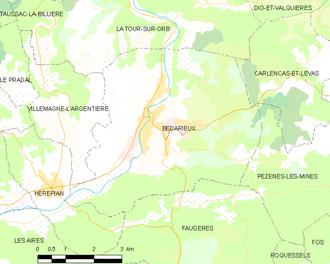 Bédarieux - Map