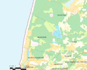 Map commune FR insee code 40296.png