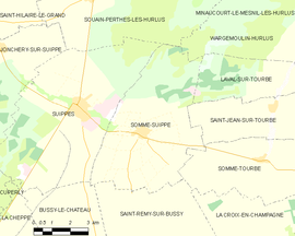 Mapa obce Somme-Suippe