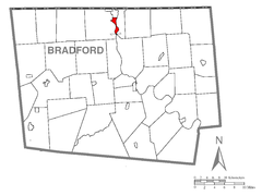 Map of Athens, Bradford County, Pennsylvania Highlighted.png