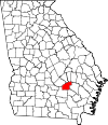 Map of Georgia highlighting Jeff Davis County.svg