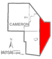 Map of Grove Township, Cameron County, Pennsylvania Highlighted.png