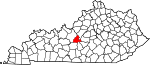 State map highlighting LaRue County
