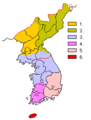 Map of Korean dialects lee sn.png