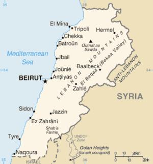 Energy in Lebanon - Location