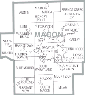 Macon County, Illinois - Map of Macon County
