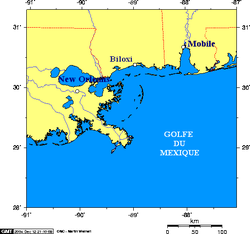 Map of Mississippi coast