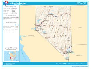 Landkarte von Nevada