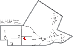Location of Oak Harbor in Ottawa County