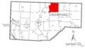 Map of Rockdale Township, Crawford County, Pennsylvania Highlighted.png