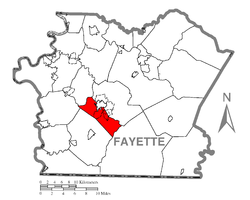 Location of South Union Township in Fayette County