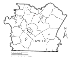 Location of Vanderbilt in Fayette County