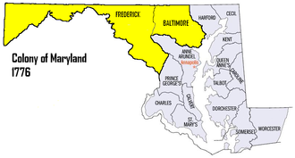7th Maryland Regiment - Recruitment Areas