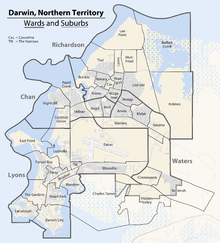Map of the Wards and Suburbs of Darwin, Northern Territory.png