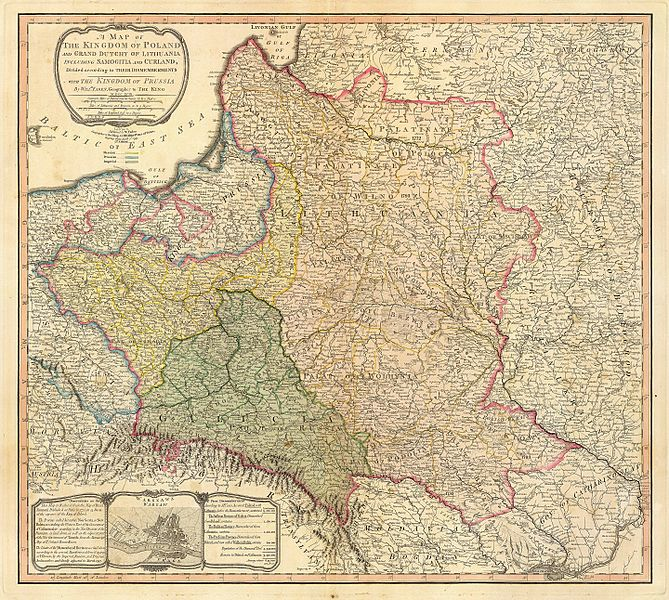 Map Partition of Poland-Lithuania 1799, from Wikimedia