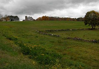 Bolton, Connecticut - Encampment site with Rose's Farm in background