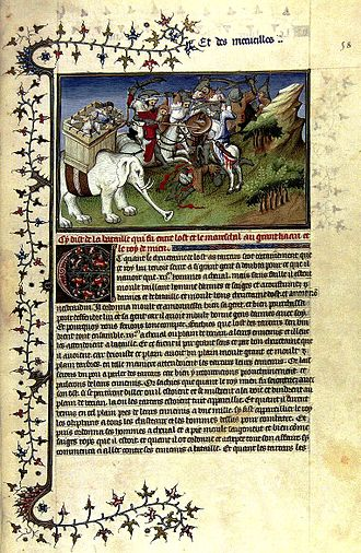 Marco Polo - A page from Il Milione, from a manuscript believed to date between 1298–1299.