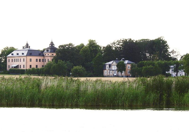 Margretelunds slott på träsnitt från 1877